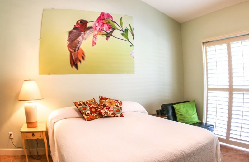 Rental bedroom at Country Club and Resort Rentals.