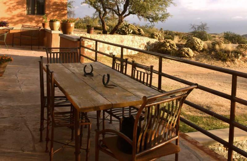 Porch at The Historic C.O.D. Ranch.