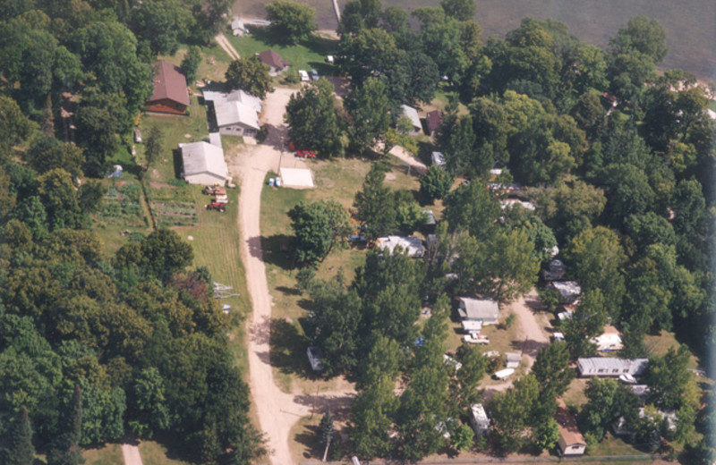 Aerial view of Bladow Beach Resort & Campground.