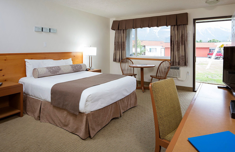 Hotel room at Rocky Mountain Ski Lodge.