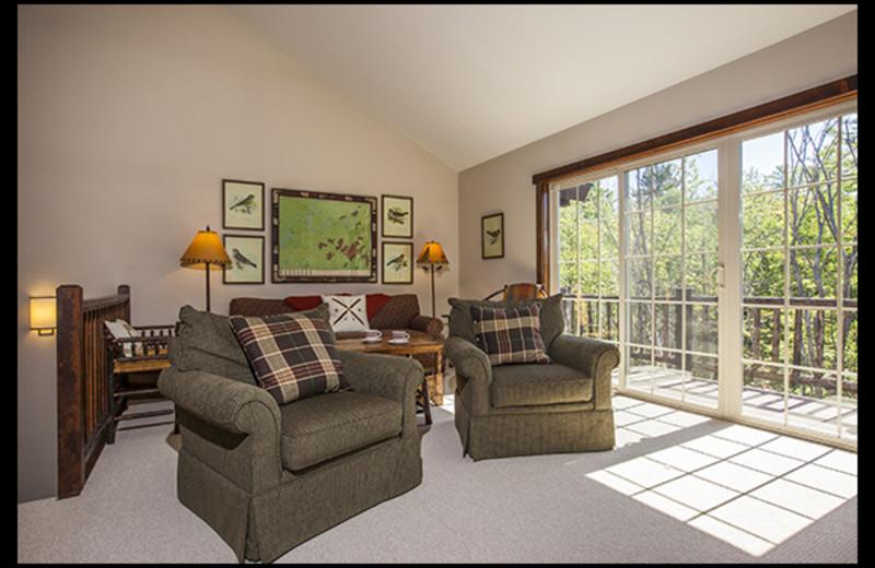 Rental living room at Owaissa Club Vacation Rentals.