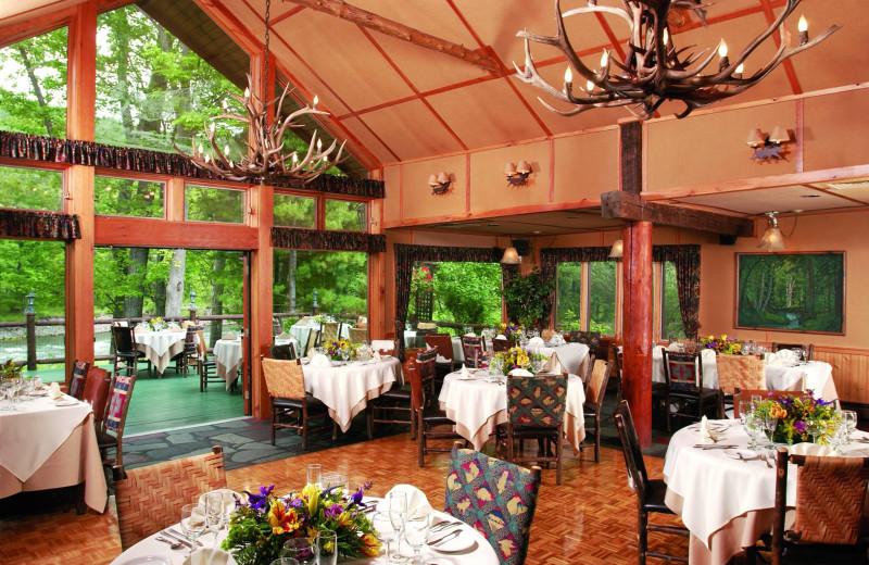 Dining room at Emerson Resort & Spa.