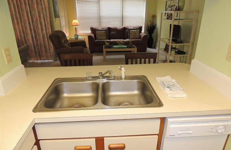 Vacation rental interior at Myrtle Beach Vacation Rentals.