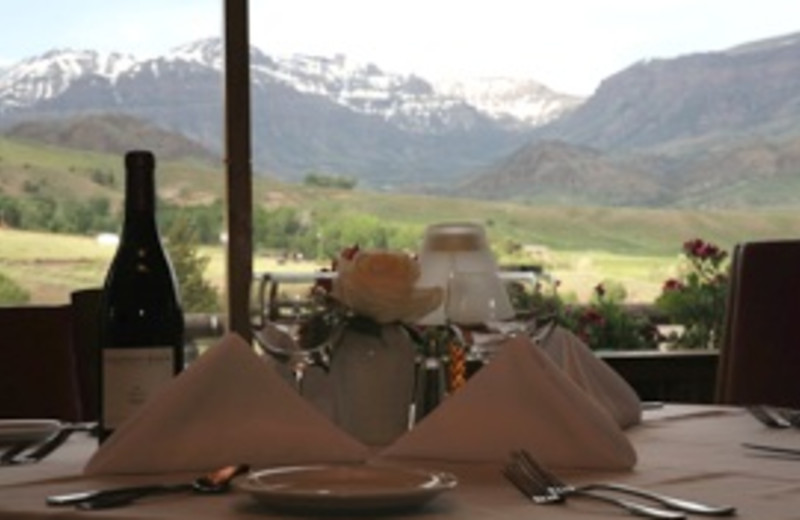 Dining at Trail Shop Restaurant and Inn.