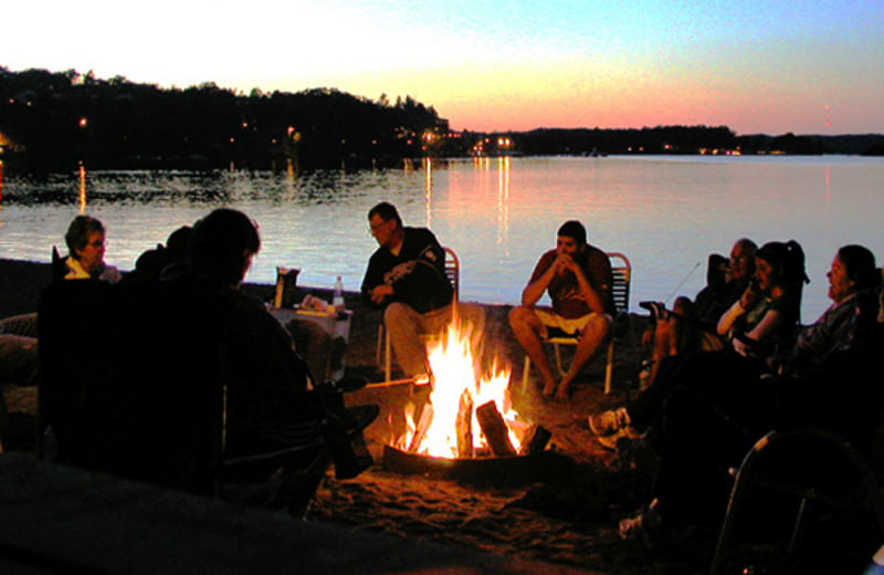 Bonfire at Cragun's Resort and Hotel on Gull Lake.