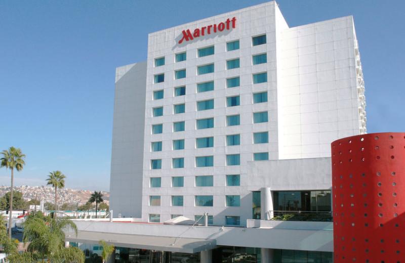 Exterior view of Tijuana Marriott Hotel.