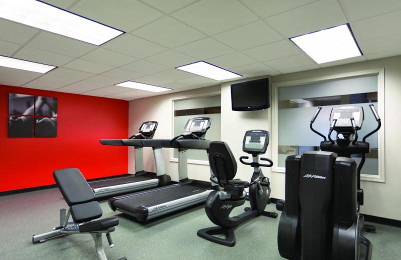 Gym at Radisson Hotel Dallas North Addison.