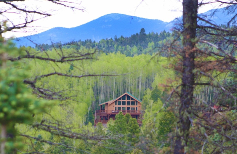 Cabin exterior at Resort Properties of Angel Fire.