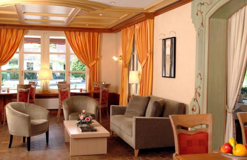 Lounge at Hotel Gruber.