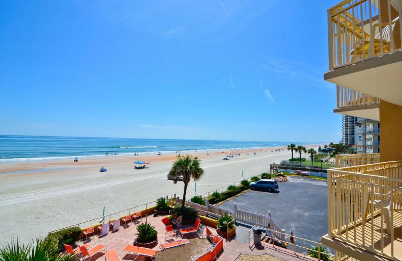 Balcony at Daytona Beach Shores Hotel.