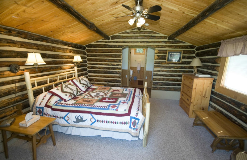 Guest room at Blacktail Ranch.