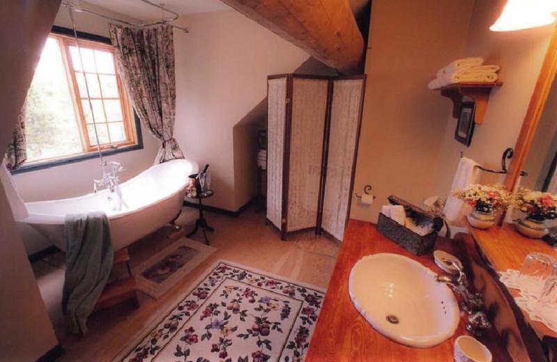 Ranch House Bathroom at Siwash Lake Ranch