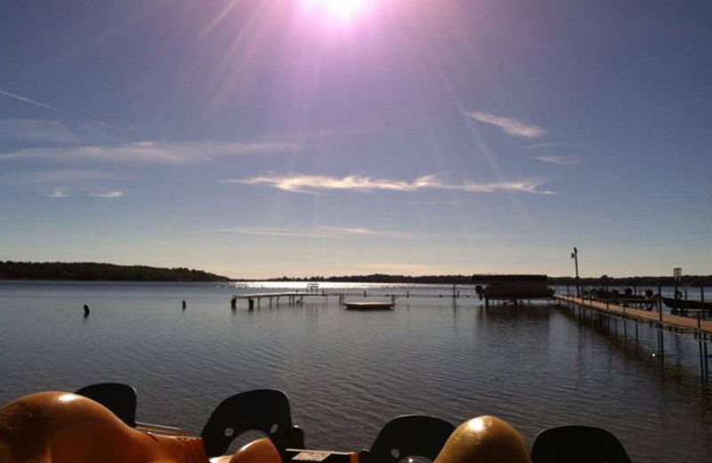 The lake at Train Bell Resort.