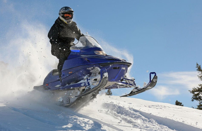 Snowmobiling at Wyoming Inn of Jackson Hole.
