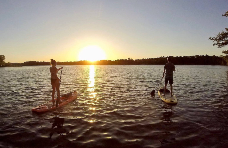 Paddle board at Kavanaugh's Sylvan Lake Resort.