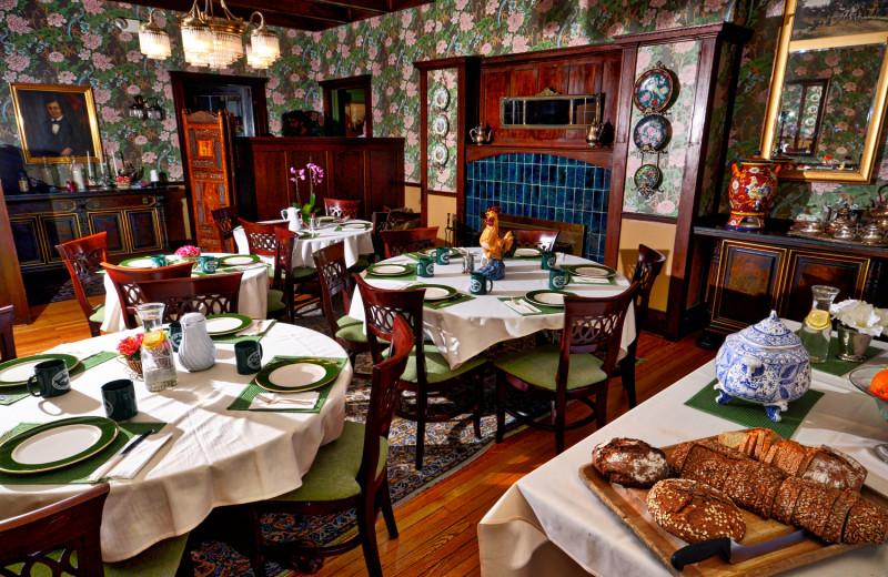 Dining at Wilburton Inn.