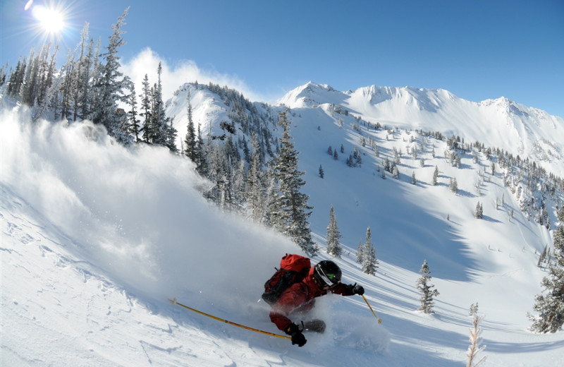 Skiing at Snowpine Lodge.