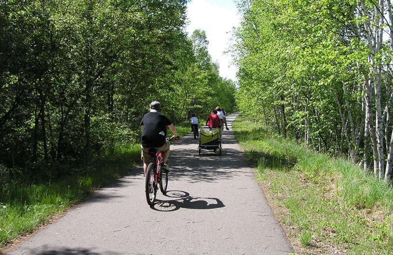 Bike trails at Birch Bay Resort.