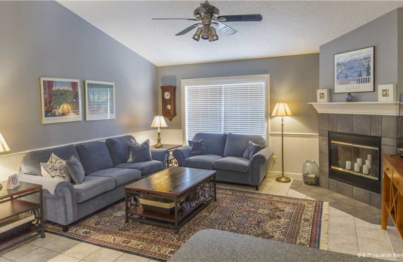 Rental living room at Vacation Rental Pros - St. Augustine.