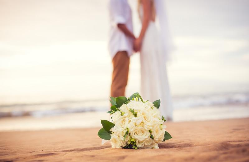 Beach wedding at Sea Star Realty.