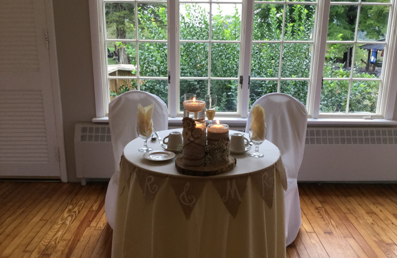 Wedding reception at Water Gap Country Club.