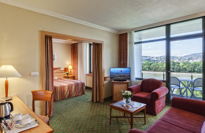 Guest room at Danubius Thermal Hotel Helia.