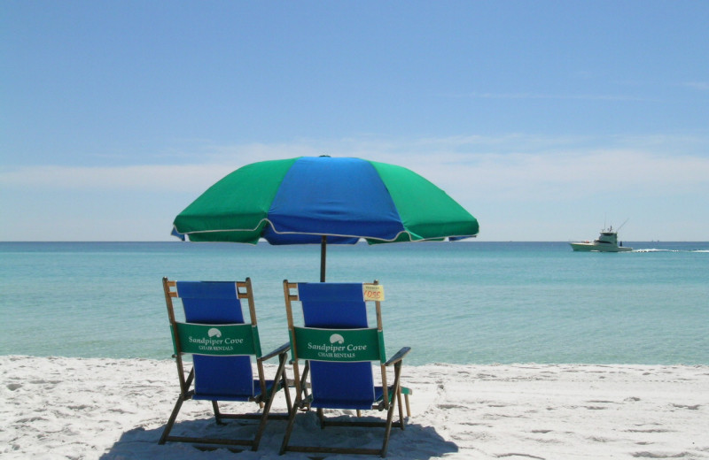 Beach chairs at Sandpiper Cove.