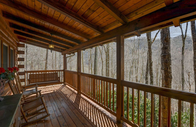 Rental deck at Smoky Mountain Retreat Realty.