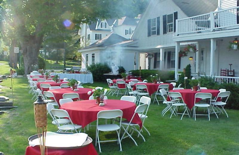 Tables Outside at Echo Lake Inn