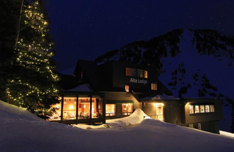 Winter at Alta Lodge.
