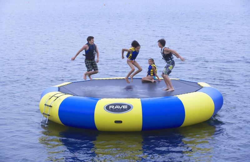 Water activities at Sandy Pines Resort.
