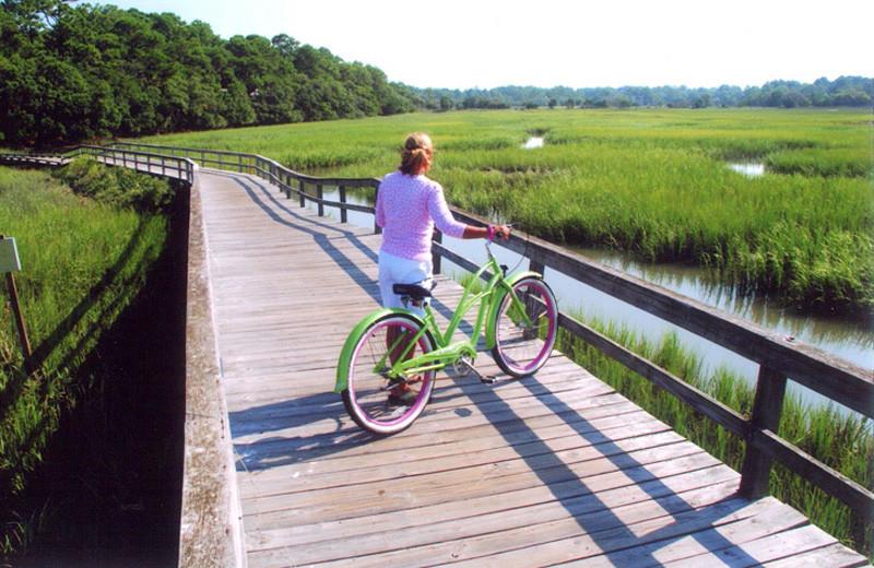 Biking at Fripp Island Golf & Beach Resort.