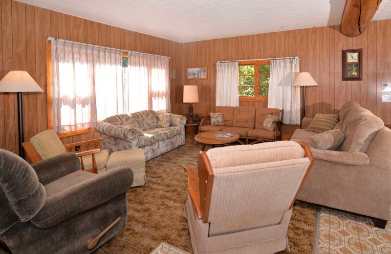 Living Room at Manotak Lodge