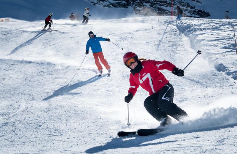 Skiing at Black Wolf Lodging.