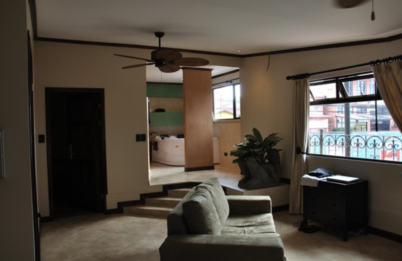 Guest room at Hotel La Amistad Inn.
