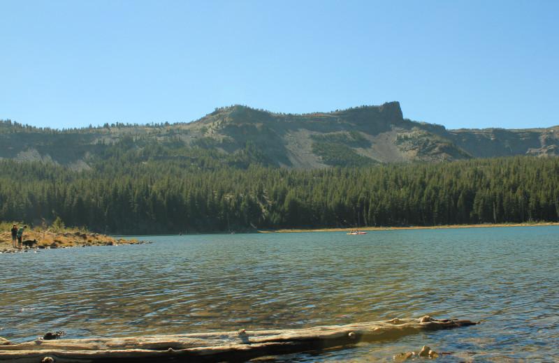 Lake view at Sisters Vacation Rentals.