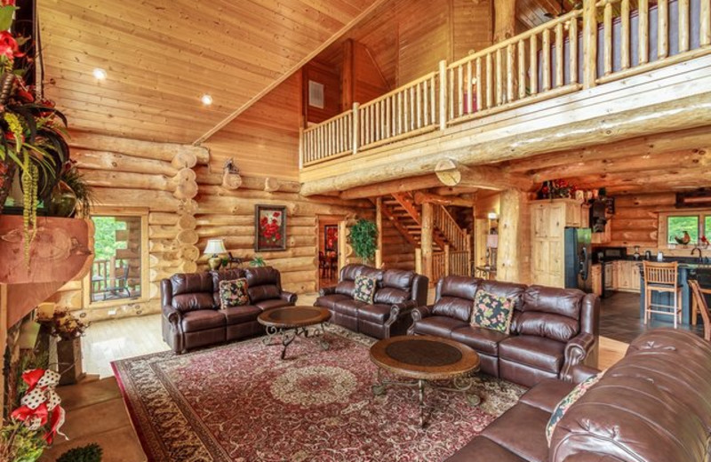 Rental interior at Stony Brook Cabins, LLC.