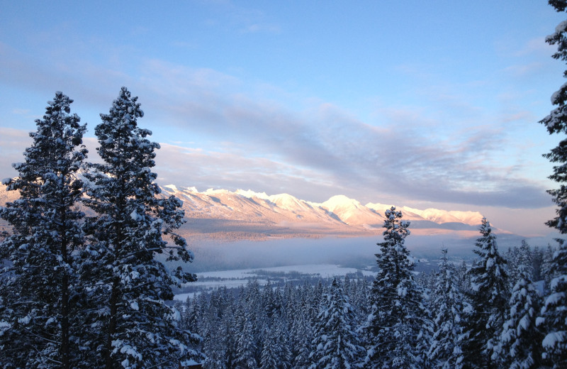Mountain view at Cedar House Restaurant & Chalets.