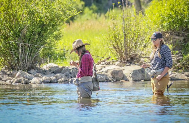 Fishing at C Lazy U Ranch.