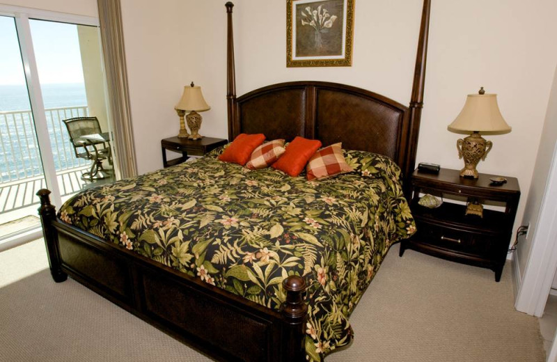 Rental bedroom at Gulf Shores Rentals.