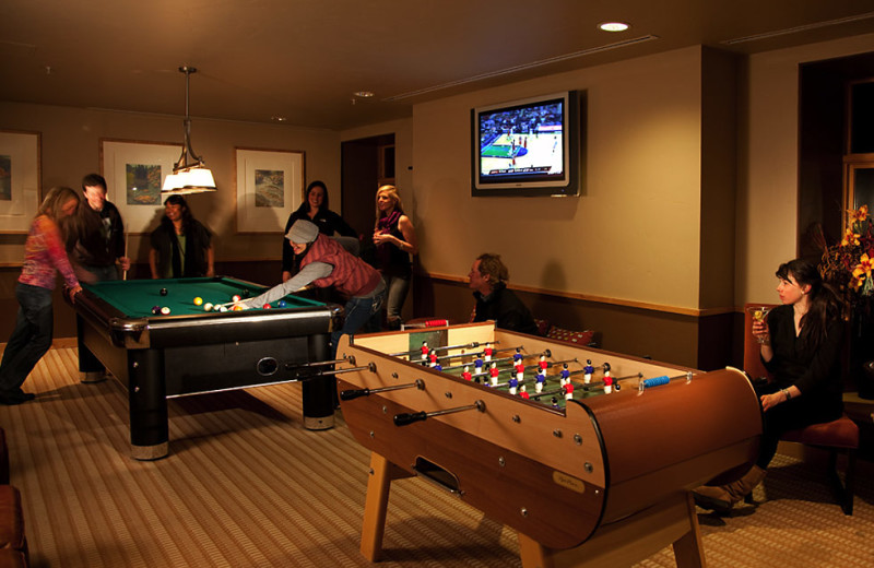 Game room at Edelweiss Lodge and Spa.