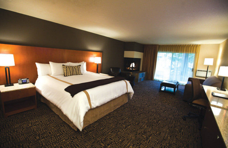 Guest room at The Resort at the Mountain.