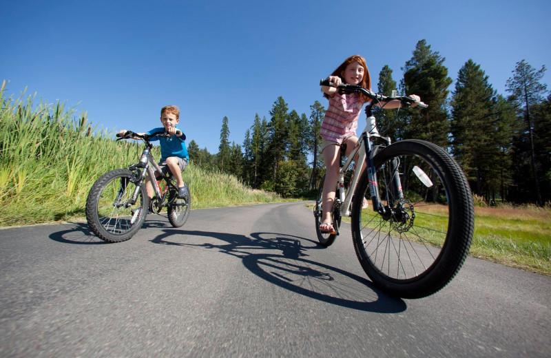 Biking at Averill's Flathead Lake Lodge.