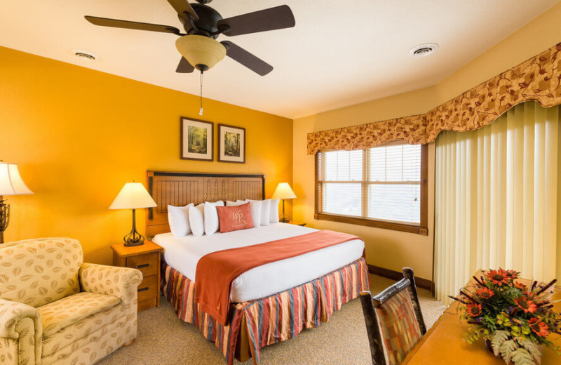 Guest bedroom at Westgate Smoky Mountain Resort & Spa.