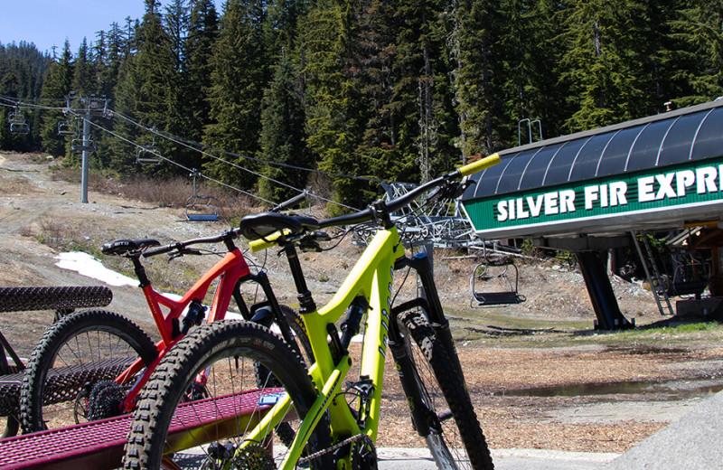 Biking at Summit at Snoqualmie.