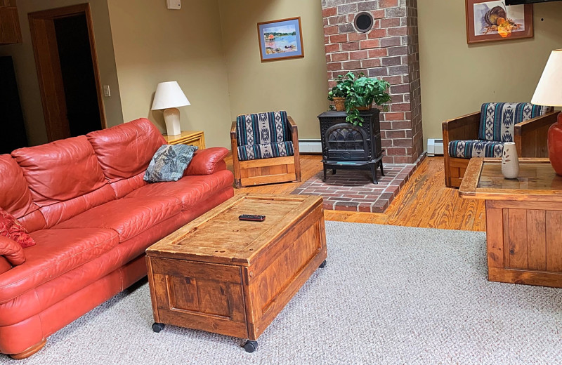 Guest living room at Northern Outdoors.