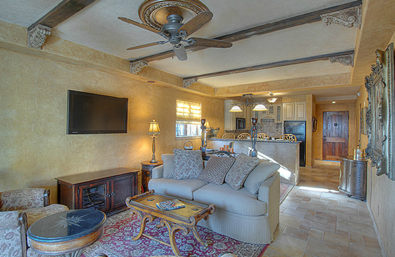 Living Room View at Ocean Lodge