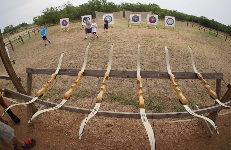Archery practice at Camp Champions on Lake LBJ.