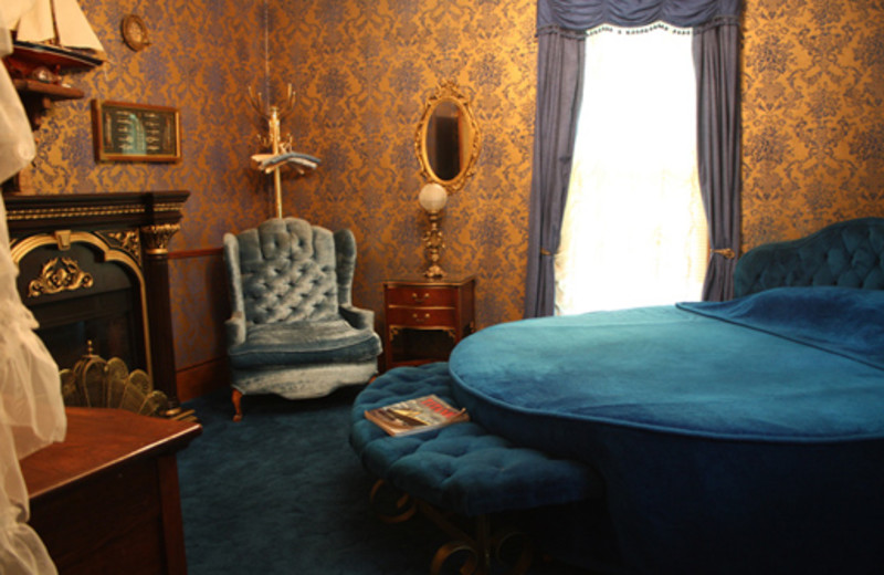 The Blue Lagoon Room at The 1887 Hansen House Bed & Breakfast.