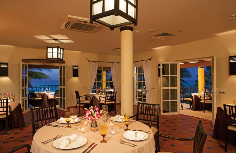 Dining at Secrets Capri Riviera Cancun.